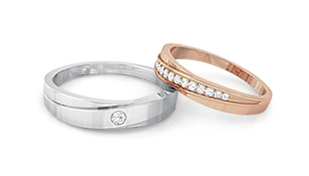 kreeli- Diamond Wedding Bands for couple